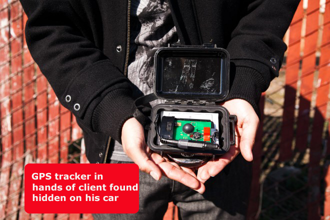 Is someone tracking or following your car? Contact us to find out.
